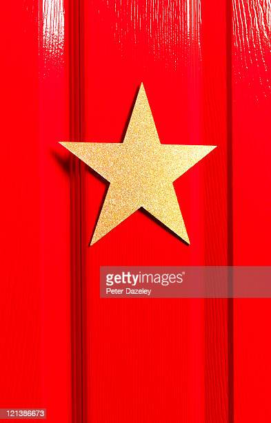 Star's dressing room door close up