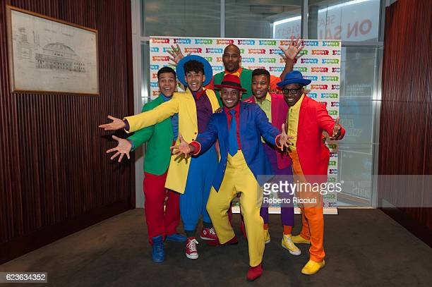 Stars from Broadway musical Five Guys Named Moe pose in the awards room at The Forth Awards 2016 at Usher Hall on November 16 2016 in Edinburgh...