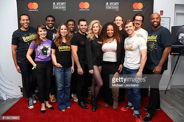 Stars from the musicals Beautiful Chicago and Something Rotten shine backstage at Variety presents Broadway Tastes a Mastercard Exclusive event at...