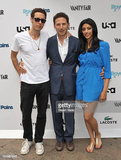 Stars from USA Network's Royal Pains actors Paulo Costanzo Mark Feuerstein and Reshma Shetty attend the Royal Pains Summer Shirt Exchange benefitting...