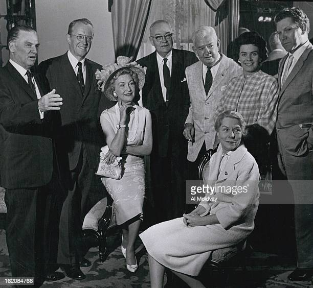 JUL 4 1959 JUL 5 1959 Stars Get Together Pictured at a luncheon Saturday in the Teller House honoring past stars of Central City productions are...