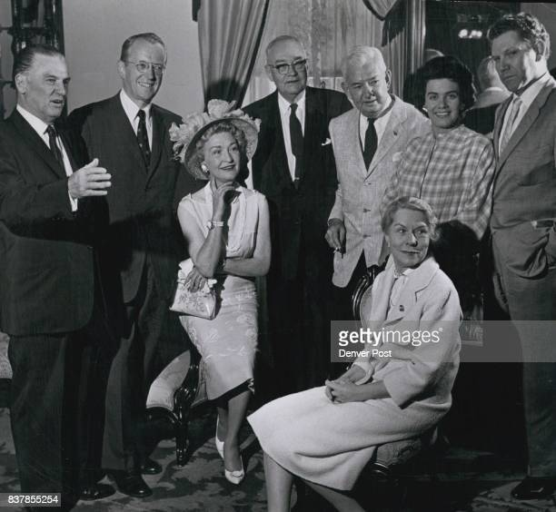Stars Get Together Pictured at a luncheon Saturday in the Teller House honoring past stars of Central City productions are Frank H Ricketson Jr...
