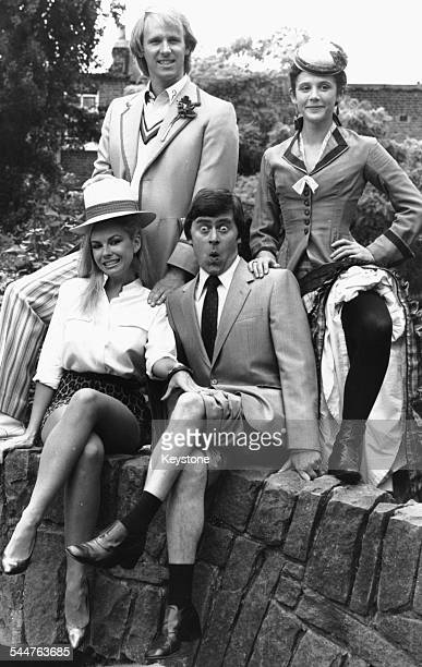 BBC stars in a promotional shot for the broadcaster's Autumn season London 19th August 1981 Left to right Pamela Stephenson Peter Davison Mike...