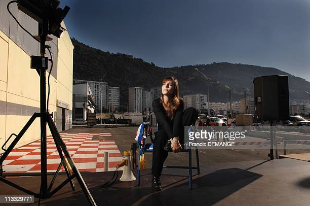 Stars In The Race For The Municipal Elctions - Sophie Duez In Nice, France On February 08, 2008 - Sophie Duez is a French actress, born on October 6,...