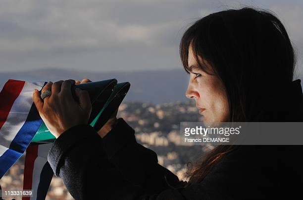 Stars In The Race For The Municipal Elctions Sophie Duez In Nice France On February 08 2008 Sophie Duez is a French actress born on October 6 1962 in...