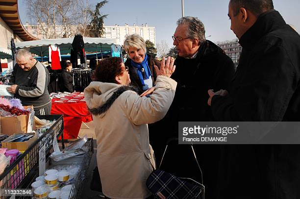 Stars In The Race For The Municipal Elections In Chatellerault France On February 12 2008 The former television presents Daniele Gilbert has...