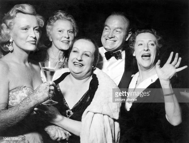 Stars like Camilla Horn Liane Haid Fern Andra Bob Hope and Henny Porten meet at the International Film Ball in Berlin on the 30th of June in 1956 |...