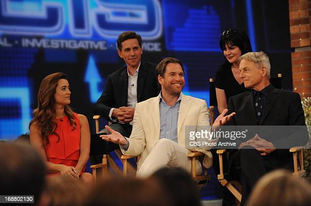 NCIS stars Mark Harmon Michael Weatherly Cote de Pablo Pauley Perrette and Brian Dietzen join the ladies of The Talk on Tuesday May 14 2013 on the...