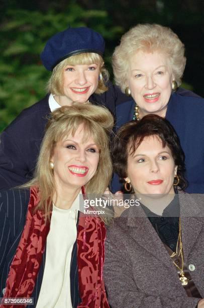 Stars of 'Absolutely Fabulous' pictured at the launch of a new series of the highly acclaimed TV series, Jane Horrocks, June Whitfield, Joanna Lumley...