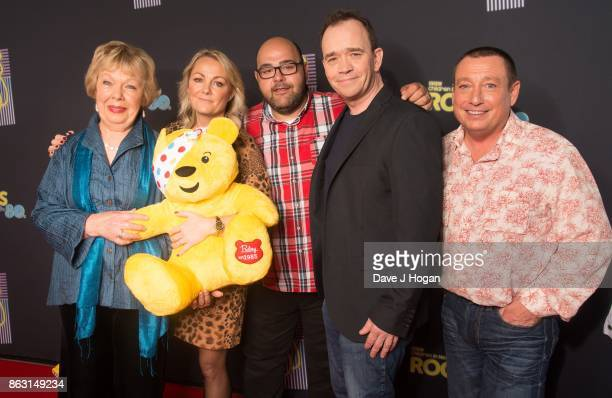 Stars of Grange Hill are pictured at BBC Children in Need Rocks the 80s at SSE Arena on October 19, 2017 in London, England.