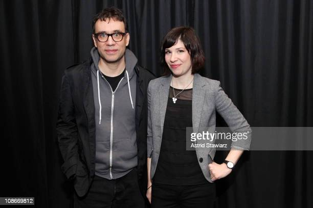 Stars of IFC Original shortbased comedy series PORTLANDIA actor Fred Armisen and actor/musician Carrie Brownstein visit the Apple Store Soho on...