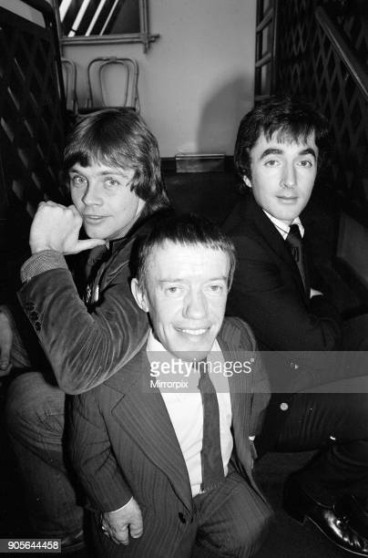 Stars of new film, Star Wars, attend news press conference at the Holiday Inn Hotel in Birmingham, 25th January 1978. Mark Hamill plays Luke...