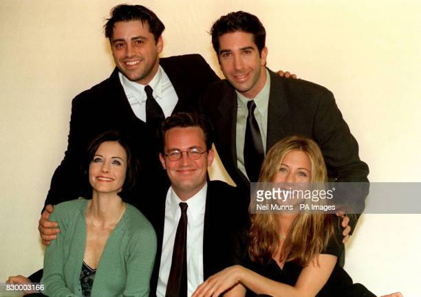 Stars of the American sitcom Friends at a photocall in London today where they are filming for the last episode of their current series Matt Le Blanc...