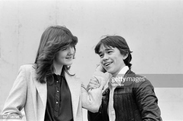 Stars of the BBC TV series 'Grange Hill ' Michelle Herbert aged 15 who plays the part of Trisha Yates with Todd Carty who plays the part of Tucker...