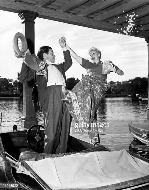 Stars of the CBS Radio situation comedy Blondie Arthur Lake and Penny Singleton take some time off away from the studio Image dated September 1 1939...