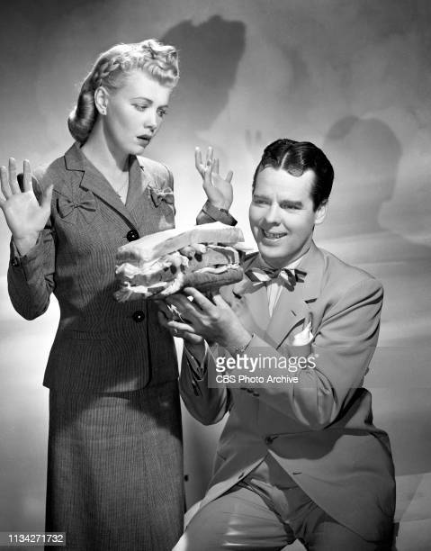 Stars of the CBS Radio situation comedy Blondie Arthur Lake and Penny Singleton Hollywood California March 20 1944