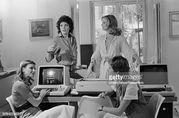 Stars of the feature film The Golden Lady pictured together on set on 7th August 1978 Clockwise from left Anika Pavel Suzanne Danielle Ina Skriver...