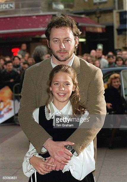 Stars Of The Film 'a Little Princess' Liam Cunningham And American Newcomer Liesel Matthews Attending The Premiere At Leicester Square