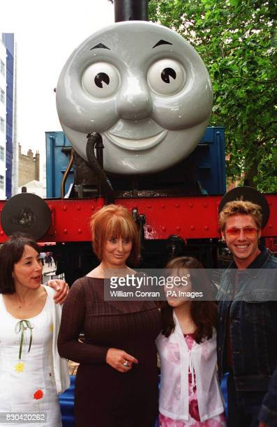 Stars of the film at the world charity premiere of Thomas and the Magic Railroad actress Didi Conn producer writer and director Britt Allcroft Mara...