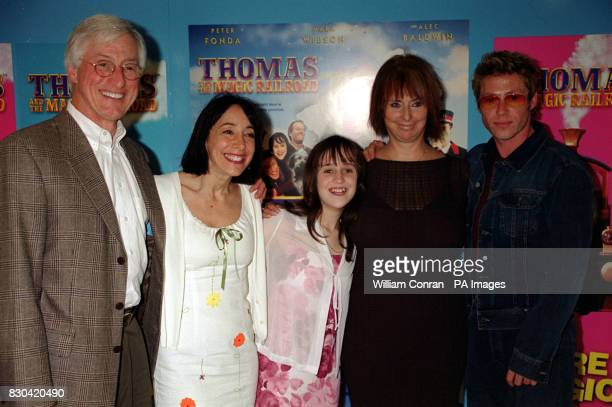 Stars of the film at the world charity premiere of Thomas and the Magic Railroad Actress Didi Conn Mara Wilson producer writer and director Britt...