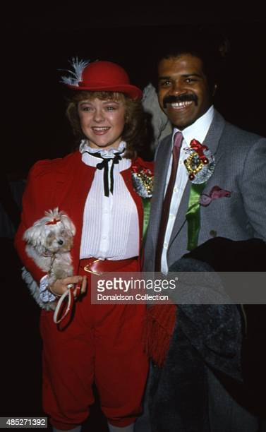 Stars of the TV show The Love Boat Jill Whelan and Ted Lange attend the Hollywood Christmas Parade in December 1980 in Los Angeles California