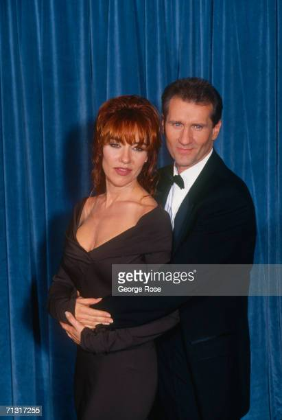 Stars of TV's 'Married With Children Katey Sagal and Ed O'Neill pose backstage at the 1989 Emmy Award ceremonies in Pasadena California The hit Fox...