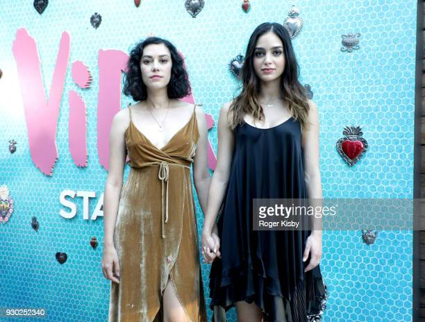 Stars of Vida Mishel Prada and Melissa Barrera attend The Starz Sensory House on March 10 2018 in Austin Texas