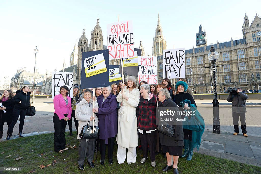Grazia Celebrates Landmark Parliamentary Vote On Equal Pay : News Photo