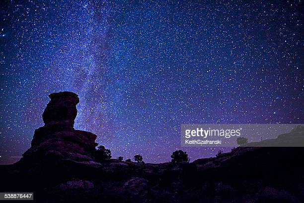 stars over canyonlands national park - canyonlands national park stock pictures, royalty-free photos & images