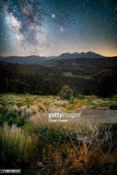 stars over carson-iceberg wilderness - carson california stock pictures, royalty-free photos & images
