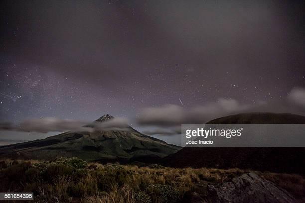 Stars over Mount Taranaki