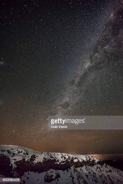 Stars over Turoa skifield, Mt Ruapehu