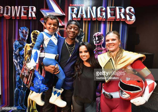 S POWER RANGERS stars RJ Cyler and Becky G attend a fan event at Y100 on March 6 2017 in Miramar Florida