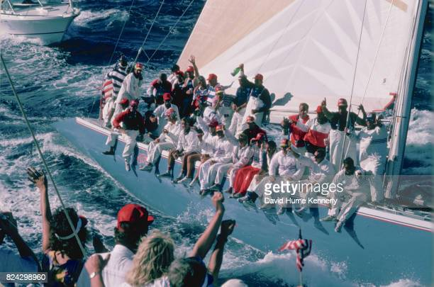 Stars Stripes '87 wins the America's Cup at the Royal Perth Yacht Club Perth Australia February 4 1987