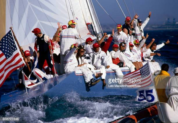 Stars Stripes 87 wins the America's Cup off Fremantle Australia on 4th February 1987