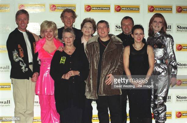Stars who appeared at The Albert Hall for The 1997 Stonewall Equality Show tonight Left to Right Paul O'Grady Brenda Gilhhouley Sir Ian McKellen Dame...