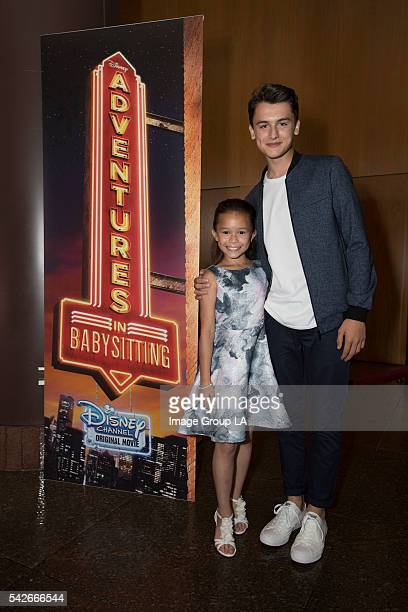 DCOM ADVENTURES IN BABYSITTING PREMIERE Stars writers directors and producers of Disney Channel Original Movies celebrated the 100th title in the...