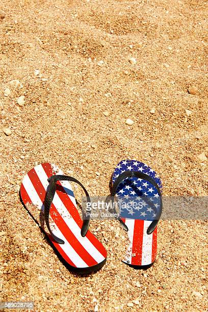 Starsand stripes flip flops