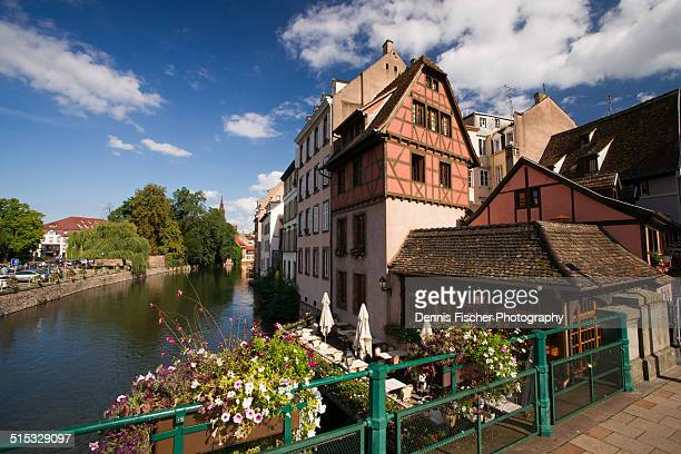 starsbourg timber framing and canals - strasbourg stock pictures, royalty-free photos & images