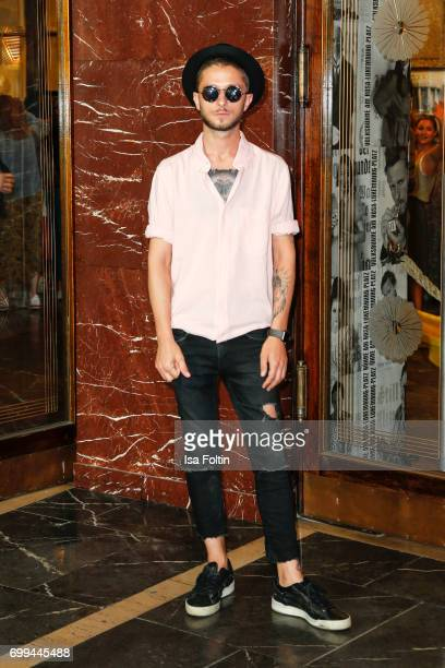 StarStylist Dominic Keller attends the 'Axolotl Overkill' Berlin Premiere at Volksbuehne RosaLuxemburgPlatz on June 21 2017 in Berlin Germany