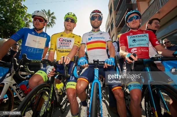 Start / Adam De Vos of Canada and Rally Cycling Blue Bonus Sprint Jersey / Xandro Meurisse of Belgium and Team Circus - Wanty Gobert Yellow Leader...
