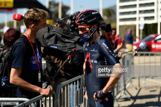 Start / Adam Yates of United Kingdom and Team INEOS Grenadiers during the 100th Volta Ciclista a Catalunya 2021, Stage 3 a 203,1km stage from Canal...