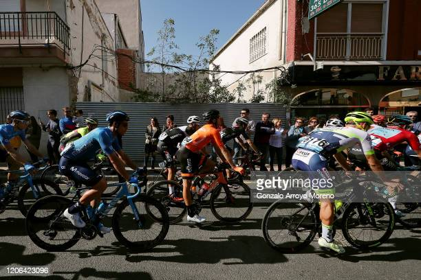 Start / Albert Torres Barcelo of Spain and Movistar Team / Daniel Viegas of Portugal and Team Kometa-Xstra / Ruben Fernandez Andujar of Spain and...