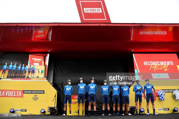Start / Alejandro Valverde Belmonte of Spain, Jorge Arcas Pena of Spain, Imanol Erviti of Spain, Enric Mas Nicolau of Spain, Nelson Oliveira of...