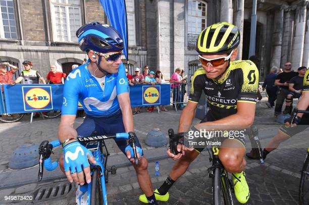Start / Alejandro Valverde of Spain and Movistar Team / Roman Kreuziger of Czech Republic and Team Mitchelton-Scott / during the104th...