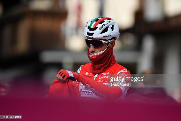 Start / Alessandro Bisolti of Italy and Team Androni Giocattoli - Sidermec / Piazza San Giacomo / Pinzolo City / Team Presentation / during the 103rd...