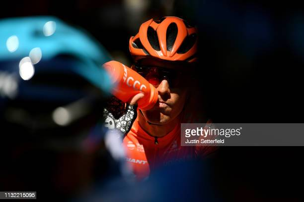 Start / Alessandro De Marchi of Italy and CCC Team / Refreshment / Bottle / Shadow / during the 5th UAE Tour 2019 Stage 3 a 179km stage from Al Ain...