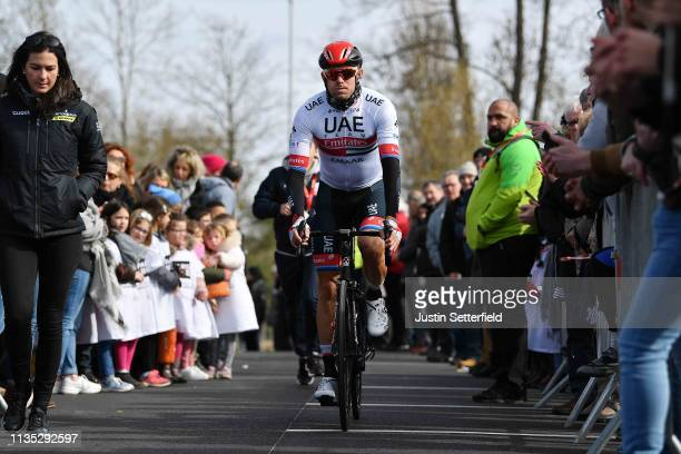 Start / Alexander Kristoff of Norway and UAE - Team Emirates / Fans / Public / during the 77th Paris - Nice 2019, Stage 3 a 200km stage from Cepoy to...