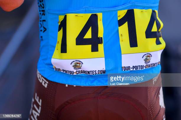Start / Alexandre Geniez of France and Team Ag2R La Mondiale / Number / Jersey / Detail view / during the 33rd Tour PoitouCharentes en Nouvelle...