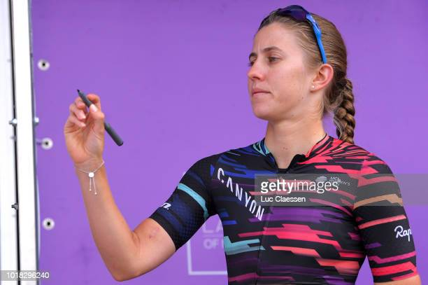 Start / Alexis Ryan of The United States and Team Canyon SRAM Racing / during the 4th Ladies Tour of Norway 2018 Stage 1 a 1277km stage from...